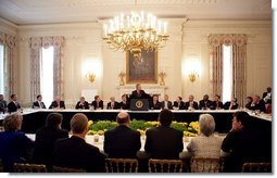 President George W. Bush addresses the National Governors Association at the White House Monday, Feb. 28, 2005.  White House photo by Eric Draper