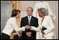 Congressional Minority Leader Nancy Pelosi congratulates Rachel Robinson, widow of Jackie Robinson, during a Congressional Gold Medal ceremony honoring Jackie Robinson at the U.S. Capitol, Wednesday, March 2, 2005. Jackie Robinson became the first black player in Major League Baseball when he signed with the Brooklyn Dodgers in 1947. White House photo by Eric Draper