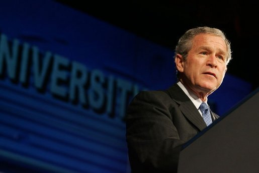 President Bush talks about the War on Terror at the National Defense University at Fort Lesley J. McNair in Washington, D.C., Tuesday, March 8, 2005. White House photo by Krisanne Johnson