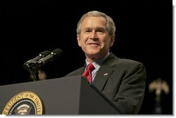 President George W. Bush delivers remarks on his energy policy during a visit to Columbus, Ohio, Wednesday, March 9, 2005.  White House photo by Krisanne Johnson