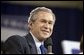 "President George W. Bush discusses Social Security in Shreveport, La., Friday, March 11, 2005. ""When people -- when a person owns something, they have a vital stake in the future of the country,"" said the President talking about personal savings accounts. White House photo by Paul Morse"
