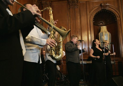 The Commitments perform at a St. Patrick's Day Luncheon held in honor of Irish Prime Minister Bertie Ahern at the U.S. Capitol Thursday, March 17, 2005. White House photo by Krisanne Johnson