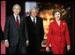 President George W. Bush, Laura Bush and U.S. House Speaker Dennis Hastert, R-Ill., tour the Abraham Lincoln Presidential Library and Museum in Springfield, Ill., Tuesday, April 19, 2005. White House photo by Eric Draper