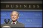 President George W. Bush addresses the National Small Business Week Conference in Washington, D.C., Wednesday, April 27, 2005. White House photo by Paul Morse