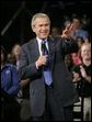 President George W. Bush waves to the audience during his introduction Tuesday, May 3, 2005, during a Conversation on Strengthening Social Security at the Nissan North America Manufacturing Plant in Canton, Miss. White House photo by Eric Draper