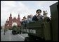 Veterans of Russia's military ride through Moscow's Red Square in a parade commemorating the end of World War II Monday, May 9, 2005. White House photo by Eric Draper