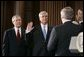 President George W. Bush attends the swearing in of Steve Johnson as the EPA Administrator in Washington, D.C., Monday, May 23, 2005. White House photo by Paul Morse