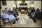 President George W. Bush meets with the bicameral and bipartisan members of Congress Tuesday, July 12, 2005, in the Oval Office of the White House. White House photo by Eric Draper