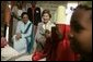 Laura Bush visits Al Rahma Madrasa Pre-School with First Lady Mrs. Shadya Karume in Zanzibar, Tanzania, Thursday, July 14, 2005. White House photo by Krisanne Johnson