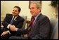 President George W. Bush welcomes El Salvadoran President Antonio Saca to the Oval Office Friday, July 15, 2005. White House photo by David Bohrer