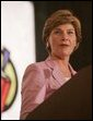 Laura Bush addresses remarks at the Teen Trendsetters Reading Mentors 2005 Annual Summit, July 26, 2005 at the Wyndham Orlando Resort, Orlando, Florida. White House photo by Krisanne Johnson