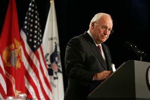 Vice President Dick Cheney speaks to the attendees at the 73rd National Convention of the Military Order of the Purple Heart in Springfield, Missouri, Thursday, August 18, 2005. The organization was formed in 1932 for the protection and mutual interest of all who have, as a result of being wounded in combat, recieved the Purple Heart. White House photo by David Bohrer