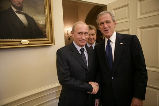 Vladimir Putin And George Bush