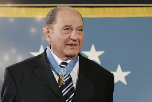 "Korean War era veteran Corporal Tibor ""Ted"" Rubin, wears the Medal of Honor, Friday, Sept. 23, 2005 at cermonies at the White House in Washington. Rubin was honored for his actions under fire, and his bravery while in captivity at a Chinese POW camp. White House photo by Paul Morse"