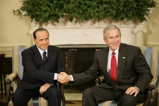 Bush and Berlusconi