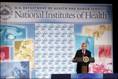 President George W. Bush delivers his remarks regarding his National Strategy for Pandemic Influenza Preparedness and Response Tuesday, Nov. 1, 2005. Today, I am announcing key elements of that strategy. Our strategy is designed to meet three critical goals: First, we must detect outbreaks that occur anywhere in the world; second, we must protect the American people by stockpiling vaccines and antiviral drugs, and improve our ability to rapidly produce new vaccines against a pandemic strain; and, third, we must be ready to respond at the federal, state and local levels in the event that a pandemic reaches our shores, said President Bush. White House photo by Paul Morse