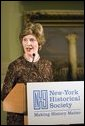 First Lady Laura Bush speaks to guests at the New York Historical Society during a New York History Makers Gala awards presentation in honor of Tom Bernstein and Roland Betts in New York, NY, Tuesday, Nov. 8, 2005. White House photo by Shealah Craighead