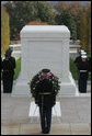 A military honor guard is seen at the Tomb of the Unknowns, Friday, Nov. 11, 2005, during Veterans Day ceremonies at Arlington National Cemetery in Arlington, Va. White House photo by David Bohrer