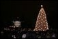 Crowds on the Ellipse watch the annual lighting of the National Christmas Tree in Washington, attended by President George W. Bush and Laura Bush, Thursday evening, Dec. 1, 2005, during the Pageant of Peace. White House photo by Paul Morse