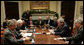 President George W. Bush briefs Republican senators on the War on Terror Tuesday, Dec. 13, 2005, in the Roosevelt Room of the White House. White House photo by Kimberlee Hewitt