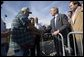 President George W. Bush greets first responders in Waveland, Miss., Thursday, Jan. 12, 2006. White House photo by Eric Draper