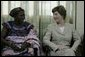 Mrs. Laura Bush visited with patients and their family members at the Korle-Bu Treatment Center, Tuesday, Jan. 17, 2006 in Accra, Ghana. White House photo by Shealah Craighead