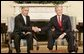 President George W. Bush welcomes Pakistan Prime Minister Shaukat Aziz to the Oval Office, Tuesday, Jan. 24, 2006. White House photo by Kimberlee Hewitt