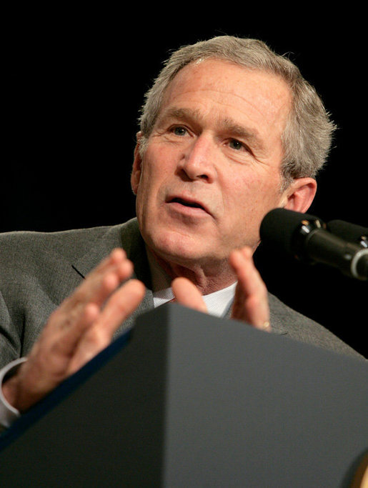 President George W. Bush delivers remarks on the 2006 agenda, Wednesday, Feb. 1, 2006 at the Grand Ole Opry House in Nashville, Tennessee. White House photo by Eric Draper