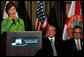 Laura Bush delivers remarks Wednesday, Feb. 15, 2006, in Coral Gables, FL, to emphasize the National Park Foundation's Junior Ranger program and its importance to preservation and education in the National Parks. White House photo by Shealah Craighead