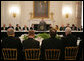 President George W. Bush addresses a meeting of the National Governors Association, Monday, Feb. 27, 2006, in the State Dining Room of the White House. President Bush told the governors that by working together we have got a chance to achieve some big things for the country. White House photo by Paul Morse