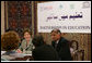 Mrs. Laura Bush attends a roundtable discussion during an Education Through Partnerships meeting with representatives from USAID, UNESCO & CRI at library at the U.S. Embassy , Saturday, March 4, 2006 in Islamabad, Pakistan. White House photo by Shealah Craighead