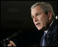 President George W. Bush addresses his remarks to an audience at Freedom House, Wednesday, March 29, 2006 in Washington, where President Bush discussed Democracy in Iraq and thanked the Freedom House organization for their work to expand freedom around the world. White House photo by Eric Draper