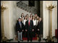 President George W. Bush stands with members of the Stanford University Women's Cross Country Team Thursday, April 6, 2006, during a photo opportunity with the 2005 and 2006 NCAA Sports Champions at the White House. White House photo by Eric Draper