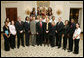 President George W. Bush stands with members of the University of Maryland Women's Basketball Team Thursday, April 6, 2006, during a photo opportunity with the 2005 and 2006 NCAA Sports Champions at the White House. White House photo by Kimberlee Hewitt