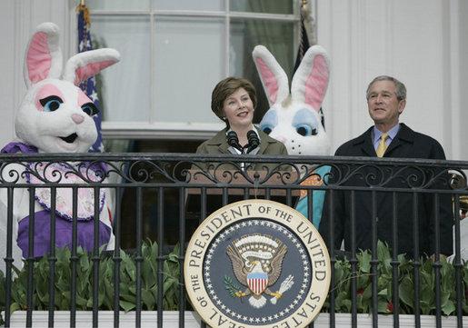 Mrs Bushs Remarks At The White House Easter Egg Roll