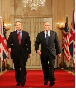 President Bush and Prime Minister Tony Blair