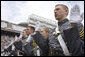 The 2006 graduating class of the U.S. Military Academy at West Point, takes an Oath of Office at the end of the commencement ceremony Saturday, May 27, 2006 in West Point, N.Y. White House photo by Shealah Craighead