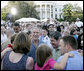 "President George W. Bush welcomes guests to the annual Congressional Picnic on the South Lawn of the White House Wednesday evening, June 15, 2006, hosting members of Congress and their families to a ""Rodeo"" theme picnic. White House photo by Paul Morse"