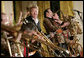 Guitarist-singer Brian Setzer plays with his orchestra Thursday evening, June 29, 2006 in the East Room of the White House, during the entertainment following the official dinner in honor of Japanese Prime Minister Junichiro Koizumi's visit to the United States. White House photo by Eric Draper