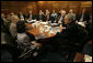 President George W. Bush meets with the National Security Council Wednesday, July 5, 2006, in the Situation Room at the White House to discuss the second report of the Commission for Assistance to a Free Cuba. White House photo by Eric Draper