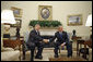 President George W. Bush meets with Canadian Prime Minister Stephen Harper in the Oval Office Thursday, July 6, 2006. White House photo by Paul Morse