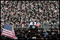 Vice President Dick Cheney addresses over 10,000 troops from the Army's 3rd Infantry Division and the Georgia National Guard's 48th Brigade Combat Team, Friday, July 21, 2006 at Fort Stewart, Ga. The Vice President thanked the soldiers for their service in Iraq during Operation Iraqi Freedom. White House photo by David Bohrer