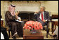 President George W. Bush meets with Foreign Minister Prince Saud Al Faisal of Saudi Arabia in the Oval Office, Sunday, July 23, 2006.  White House photo by Kimberlee Hewitt
