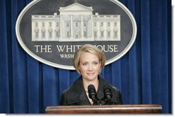 White House Deputy Press Secretary Dana Perino, Wednesday, August 23, 2006, fields questions from the press in the James S. Brady Press Briefing Room.  White House photo by Paul Morse