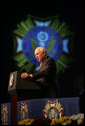 "Vice President Dick Cheney addresses the 107th National Convention of the Veterans of Foreign Wars of the U.S., Monday, August 28, 2006, in Reno, Nevada. ""Whatever it is about America that has produced such brave citizens in every generation, it is the best quality we have,"" said the Vice President. ""Freedom is not free, and all of us are deep in the debt of the men and women who go out and pay the price for our liberty."" White House photo by David Bohrer"