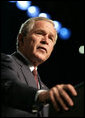 "President George W. Bush addresses the 88th Annual American Legion National Convention in Salt Lake City Thursday, Aug. 31, 2006. The President told the Legionnaires, ""The war we fight today is more than a military conflict; it is the decisive ideological struggle of the 21st century."" White House photo by Eric Draper"