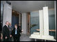 President Bush tours the Tribute WTC Visitor Center with Jennifer Adams, CEO of the September 11th Families Association, in New York City Sunday, September 10, 2006. Recently opened, the museum is located near Ground Zero. White House photo by Eric Draper