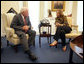 Vice President Dick Cheney meets with Minister of Foreign Affairs Tzipi Livni of Israel at the White House, Thursday, September 14, 2006. White House photo by David Bohrer
