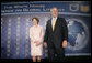 President George W. Bush and Laura Bush attend the White House Conference on Global Literacy at The New York Public Library in New York City Monday, September 18, 2006. The conference encourages international involvement and new partnerships to support literacy efforts. It highlights several UNESCO programs. White House photo by Eric Draper
