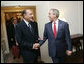 President George W. Bush meets with President Jacques Chirac of France Tuesday, Sept. 19, 2006, during the President's visit to New York City for the United Nations General Assembly. White House photo by Eric Draper